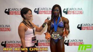 IFBB Pro Sheronica Henton from Fayetteville NC wins the 1st annual IFBB Pro Champions in Raleigh NC,