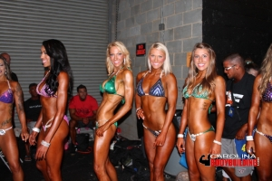 women back stage at the 2015 Victory Classic