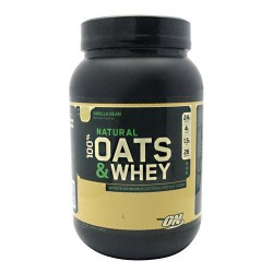 Natural 100% Oats and Whey - Slow Burning Complex Carbs and Hunger Filling Dietary Fiber